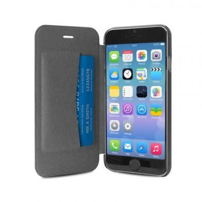Etui iPhone 6s Plus / iPhone 6 Plus z kieszenią kartę - PURO Booklet Wallet Case (czarny)
