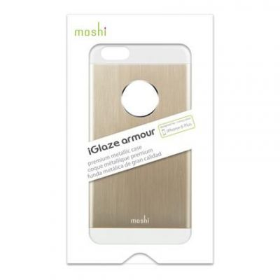Etui aluminiowe iPhone 6 Plus/ iPhone 6s Plus - Moshi iGlaze Armour (złoty)