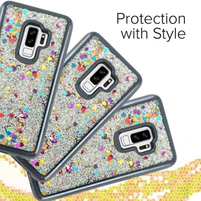 ZIZO LIQUID GLITTER STAR CASE - ETUI SAMSUNG GALAXY S9+ (BLACK)