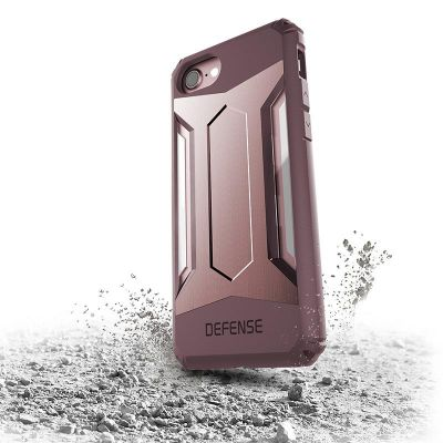 Etui pancerne iPhone 7 - X-Doria Defense Gear (Rose Gold)