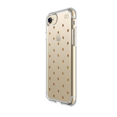 Etui iPhone 7 - Speck Presidio Clear with Print (Etcheddot Silver/Clear)
