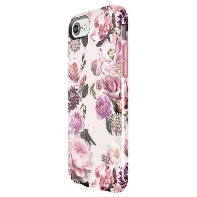 SPECK PRESIDIO INKED - ETUI IPHONE 8 / 7 / 6S / 6 (LIGHTPINKFLOWERS/ PARFAIT PINK)