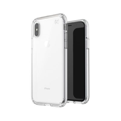 ETUI IPHONE XS / X - SPECK PRESIDIO STAY CLEAR (CLEAR/CLEAR)