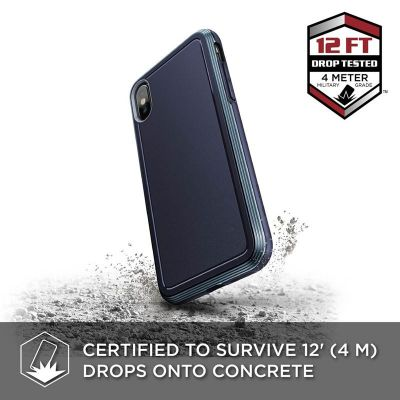 PANCERNE ETUI IPHONE XS / X - X-DORIA DEFENSE ULTRA (DROP TEST 4M) (MIDNIGHT BLUE)