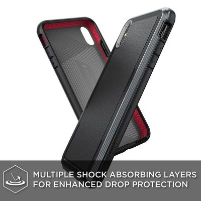 Pancerne etui iPhone Xs Max (Drop test 4m) - X-Doria Defense Ultra (Black)