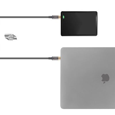KABEL USB-C POWER DELIVERY 100 W, 4K - MOSHI USB-C MONITOR CABLE (GRAY/GOLD)