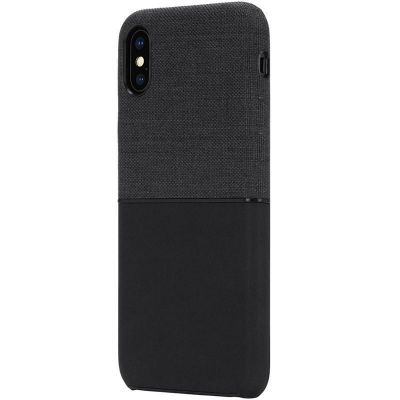 INCASE TEXTURED SNAP - ETUI IPHONE XS MAX (BLACK)