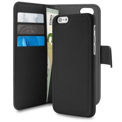 Etui 2w1 iPhone 8 Plus / 7 Plus / 6s Plus / 6 Plus - PURO Wallet Detachable (czarny)