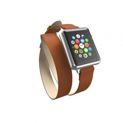 Skórzany pasek do Apple Watch 42mm - Incipio Reese Double Wrap (tan)