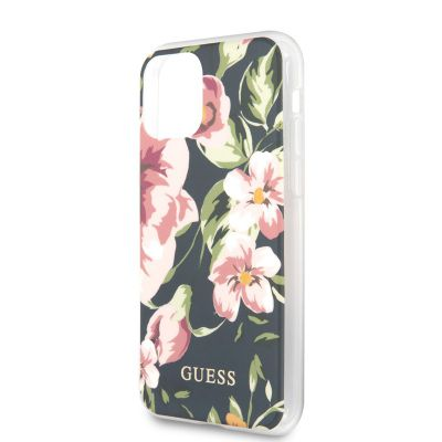 Etui iPhone 11 Pro - Guess Flower Shiny Collection N3 (Navy)