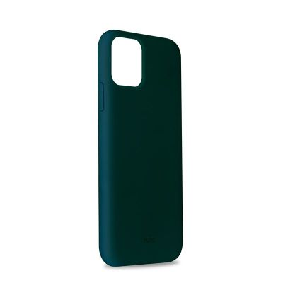 Etui silikonowe iPhone 11 Pro Max - PURO ICON Cover (ciemnozielony)