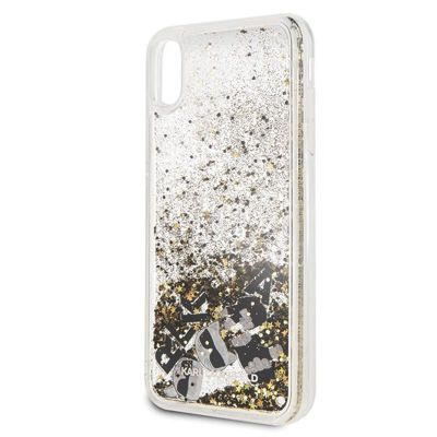 Etui iPhone Xs Max - Karl Lagerfeld Signature Glitter Case (Floatting Charms)