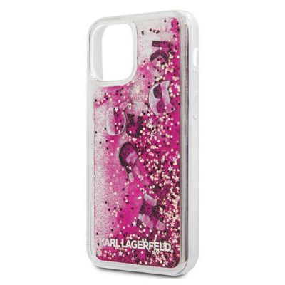 Etui iPhone 12 / iPhone 12 Pro - Karl Lagerfeld Glitter Liquid Floating Charms (Pink Floating Charms