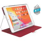 Etui iPad 10.2 w/Magnet & Stand up - Speck Balance Folio Clear (Heartrate Red/Clear)