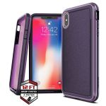 PANCERNE ETUI IPHONE XS MAX - X-DORIA DEFENSE ULTRA (DROP TEST 4M) (PURPLE)