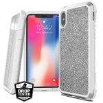 Etui aluminiowe iPhone Xs Max (Drop test 3m) - X-Doria Defense Lux (White Glitter)