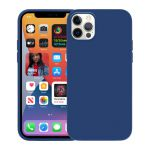 Etui silikonowe iPhone 12 Pro Max - Crong Color Cover (granatowy)